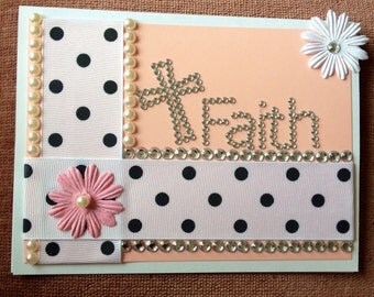 Faith with Pearls, Sequins & Polka Dots