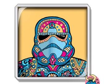 Star Wars Magnet, Stormtrooper Magnet, Fridge Magnet, Gift For Him, Boyfriend Gift, Gift For Boys, Refrigerator Magnet, Home Decor,Bday Gift