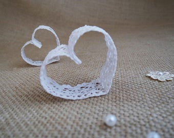 Lace Wedding Place Card Holders, Unique Wedding Table Decor, Wedding Number Holders, Placecard Holder, Set of 130
