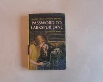 Nancy Drew Password to Larkspur Lane, Nancy Drew, Nancy Drew vintage 1966 book, vintage book, 1960s Nancy Drew book, Nancy Drew mystery