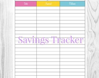 Savings tracker   Etsy