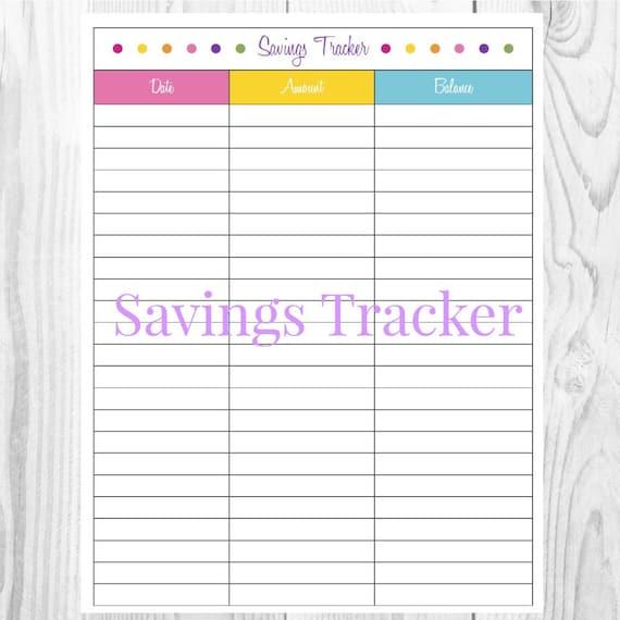 Intrepid image regarding savings tracker printable