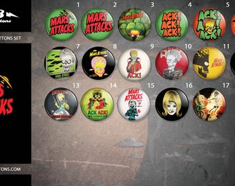 Collection sheets Mars attacks / / Mars attacks button collection