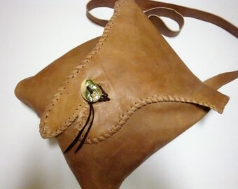 bag to cape, leather beigebrown,Unique