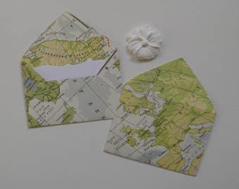 Atlas mini envelopes, Inserts optional, Paper ephemera, Paper embellishments, Journaling, Project Life, Free shipping world wide