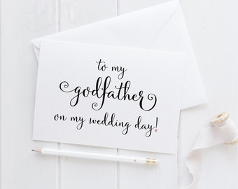 To My Godfather Card. Godfather Card. Godfather Wedding Card. Wedding Card For Godfather. To My Godfather On My Wedding Day. Wedding Cards.
