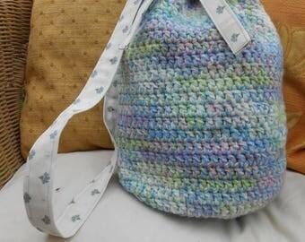Crochet Barrel Bag Multi Colour Pastels