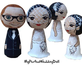 Elegant Wedding/Cake Topper - approx. 6 cm tall