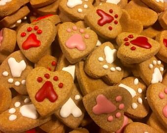Gourmet Dog Treat: Homemade Mini Valentine Heart Dog Cookies