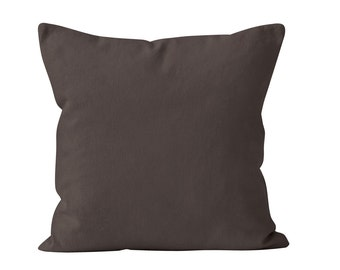 Espresso Brown Pillow Cover, Chocolate Brown Pillow Cover, Solid Brown Pillows Covers, Dark Brown Pillow Cover, Solid Neutral Pillows Covers
