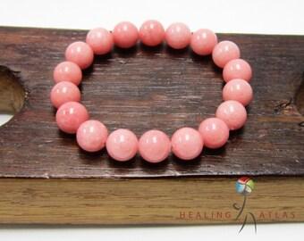 Rhodochrosite Bracelet Heart Chakra Bracelet Balance Pink Mala Love Rhodochrosite Bracelet Yoga Meditation Bracelet Rhodocrosite Bracelet