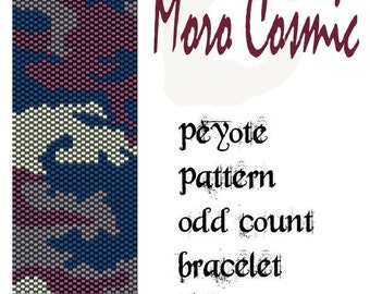 peyote pattern for bracelet - Moro Cosmic