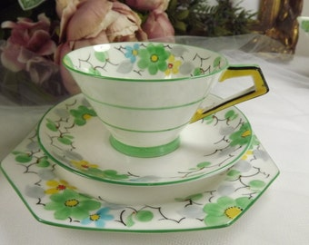 Paragon Art Deco Teacup, Saucer , Plate ( 3 Av)... Display Only