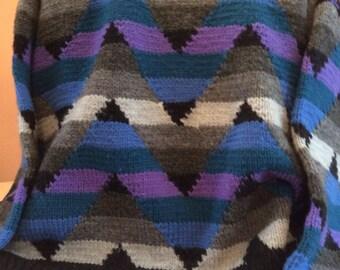 Handknit wool pullver