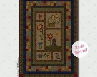 Folk Art Flannels quilt kit by Janet Nesbitt of One Sister Designs