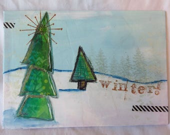 Winter! - Mixed media art