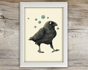 Artprint raven limited edition
