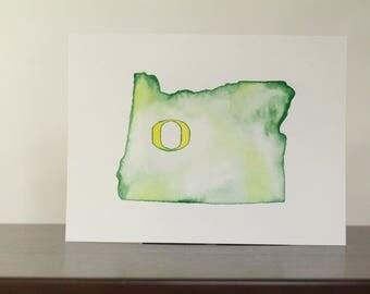 University of Oregon Watercolor