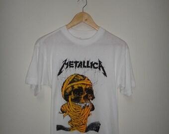 Vintage Metallica One 1989 T Shirt European BootlegTee Original 80s Heavy Metal Shirt RARE
