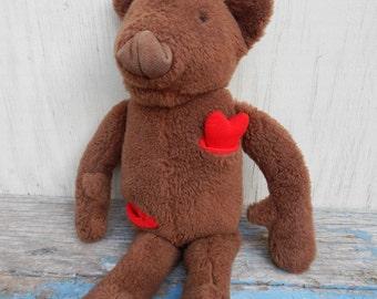 RARE 1978 Vegimals Freemountain Toy Co. Teddy Bear with a Heart!