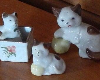 Adorable Minature Vintage Cats!