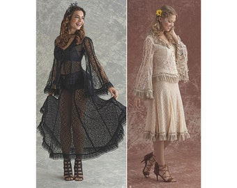 Simplicity Sewing Pattern 8362 Misses' Lace Blouse and Skirt In Two Styles