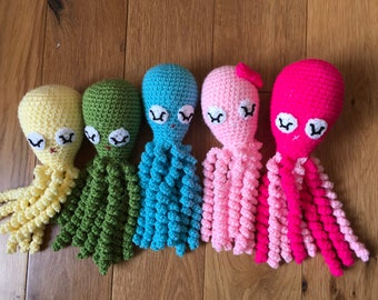 Crochet octopus for preemie, octopus toy for preemie, octopus for premature babies, octopus toy, octopus jellyfish toy for preemie, knitted