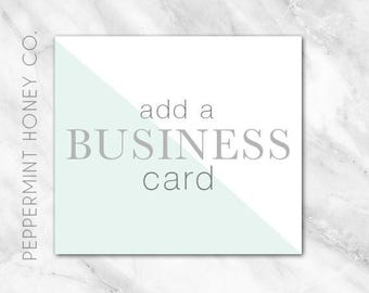 Add a BUSINESS CARD to your LOGO Purchase