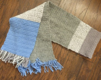 Frozen scarf with fringe