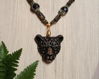 THE CAT Beaded Necklace
