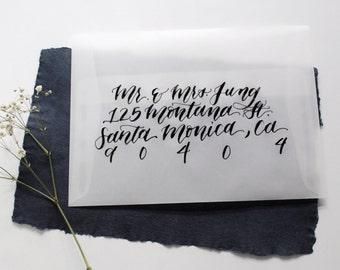 Vellum Calligraphy Envelopes