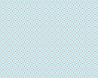 Leaf Aqua One Yard Cut from Sew Cherry 2 by Lori Holt for Riley Blake Fabrics
