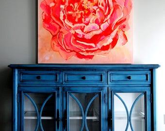 SOLD!!-Antique blue sideboard-Refinished!!
