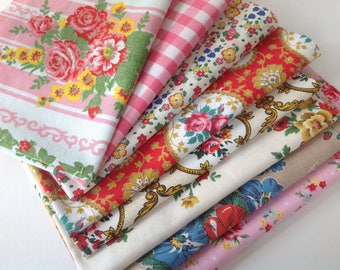 New/Vintage French floral, Liberty, fabric pieces for craft patchwork appliqué