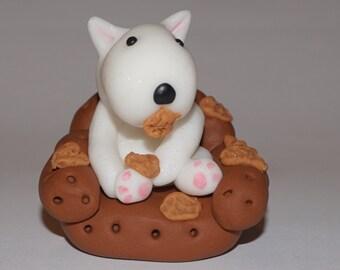 """English Bull Terrier Ornament """"It wasn't me honest"""" Bull terrier ornament bull terrier gift english bull gift english bull terrier"""