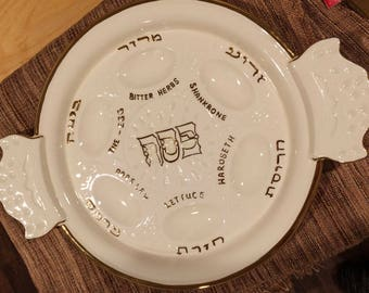Estelle's Handpainted Passover Seder Plate