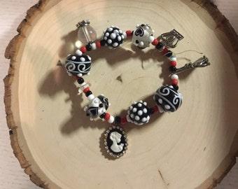 Alice in Wonderland~Red Queen Charm Bracelet