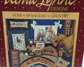 Alma Lynne Star Spangled Country Counted Cross Stitch Booklet