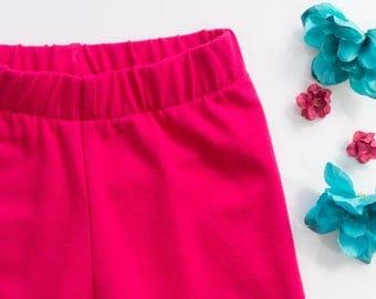 Baby girl leggings, hipster girl leggings, pink baby clothes, toddler girl leggings, baby girl clothes, baby gift, baby solid color pants,
