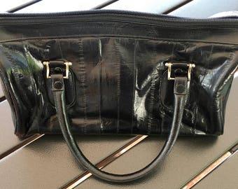Vintage Genuine Eel Skin Handbag