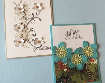Set of 8 Custom Get Well Cards- Free Shipping!