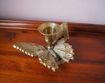 Vintage Brass Candle Holder.