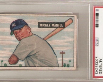 1951 Bowman Mickey Mantle Rookie Authentic