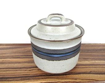 Otagiri Blue Horizon Sugar Bowl, Vintage Otagiri Horizon Covered Sugar Dish From Japan, Stoneware Condiment Pot