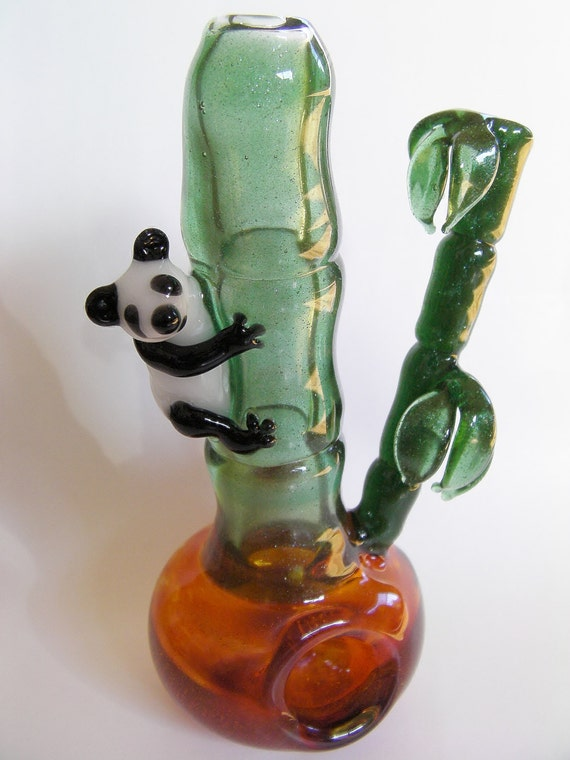 Glass Pipe Hanging in the Bamboo