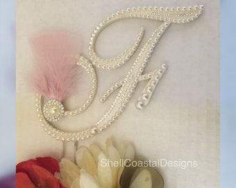 Wedding Cake Topper Monogram Cake Topper Gatsby Topper Wedding Decor Hollywood Cake Topper Custom Monogram Topper Cake Toppers