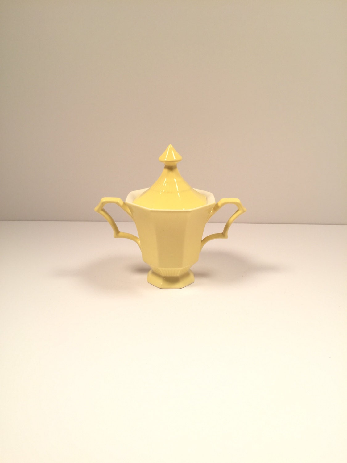 Yellow sugar bowls with lids - Like This Item