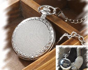 Pocket Watch , Groomsmen Gift , Engraved Pocket Watch, Monogrammed Watch, Gift for Groom, Steampunk pocket watch, personalized pocket watch