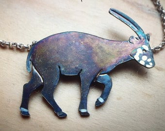 Sterling Silver Saola Necklace