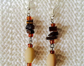 Amber dangle earrings